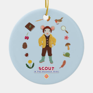Scout & The Gumboot Kids Ceramic Ornament
