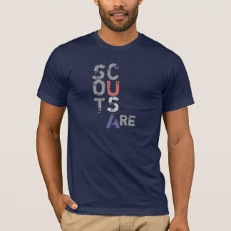 Scouts Are... Etc. Etc. Funny back - highlight USA T-Shirt