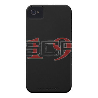 SCP19 white shadow black background Case-Mate iPhone 4 Case