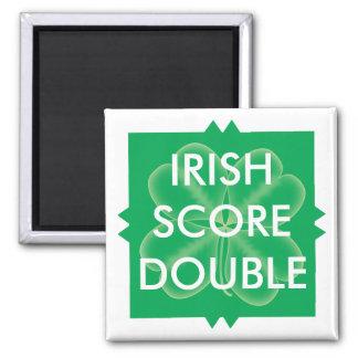 Scrabble St. Patrick's Double Score Magnet