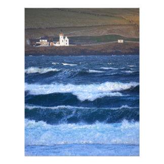 Scrabster Lighthouse near Thurso, Scotland Letterhead