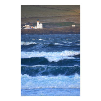 Scrabster Lighthouse near Thurso, Scotland Stationery