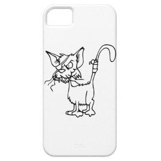 Scraggy Cat Black & White Mobile Phone Case