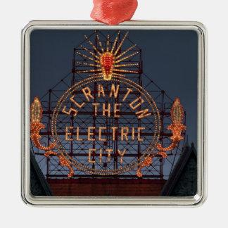 Scranton Electric City Metal Ornament