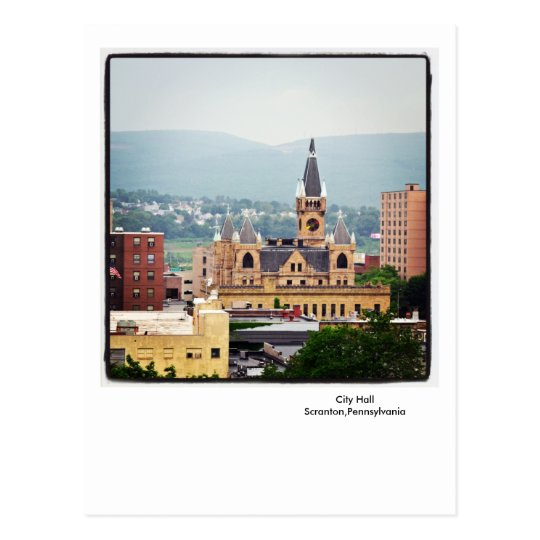 Scranton PA Postcard-City Hall-Endless Mountains Postcard