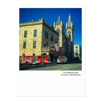 Scranton PA Postcard-Fire Headquarters Postcard