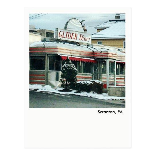 Scranton PA Postcard-The Glider Diner Postcard