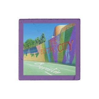 Scranton, The Electric City Mural-Stone magnet