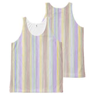 scrap book pastel colors style design All-Over-Print tank top