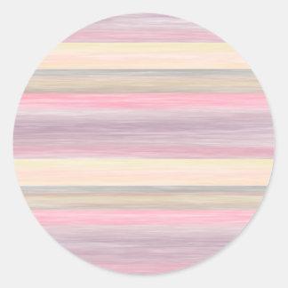 scrap book pastel colors style design classic round sticker