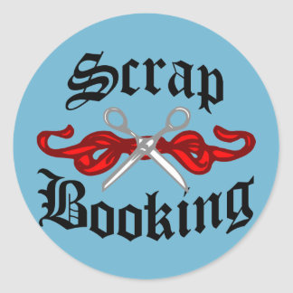 Scrap Booking Tattoo Round Sticker