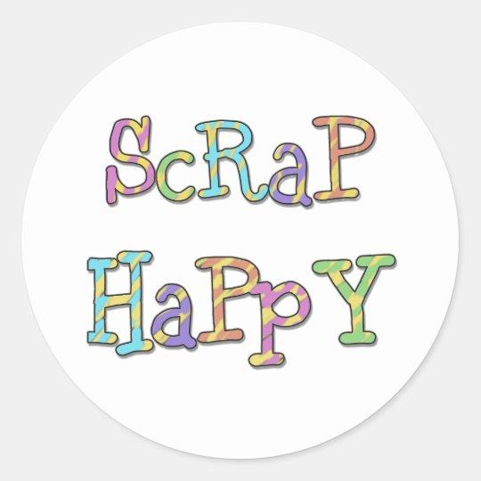 Scrap Happy Round Sticker