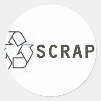 SCRAP LOGO CLASSIC ROUND STICKER