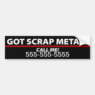 Scrap Metal Bumper Sticker - Scrap Metal Removal