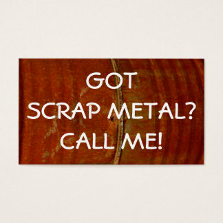 Scrap Metal Collector Business Card