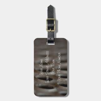 Scrap Metal; Customizable Luggage Tag