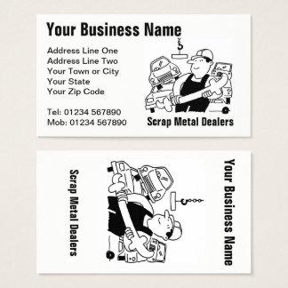 Scrap Metal Dealers Cartoon Business Card