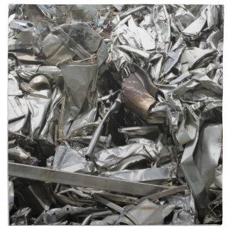scrap metal printed napkins
