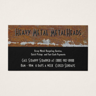 Scrap Metal Recycler Dump or Depot Center Business Card