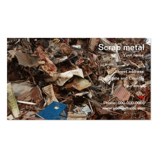 scrap metal recycling business card