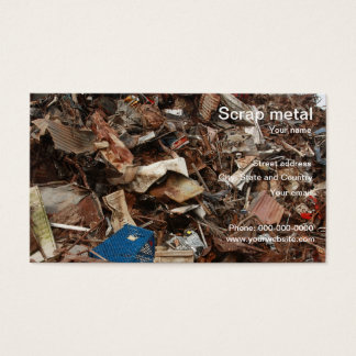 scrap metal recycling business card