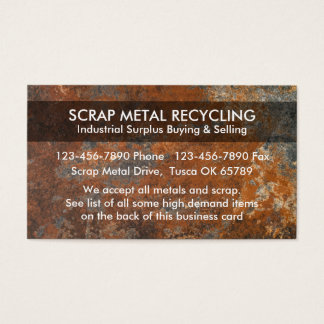 Scrap Metal Recycling Business Cards