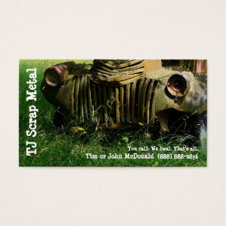 Scrap Metal Recycling & Garbage Pickup Business Card