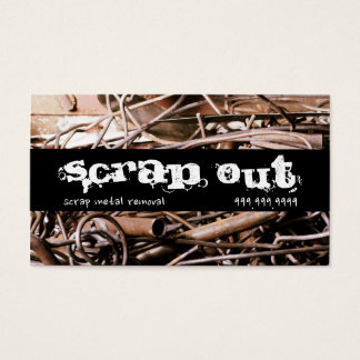 Scrap Metal Removal Recycling Junk Business Card