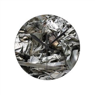 scrap metal round clock