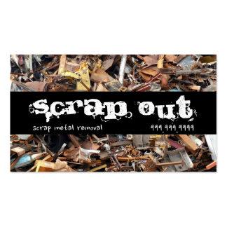 Scrap Metal Yard Removal Recycling Junk Business Card
