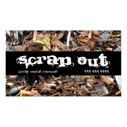 Scrap Metal Yard Removal Recycling Junk Business Cards