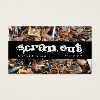 Scrap Metal Yard Removal Recycling Junk Business Card