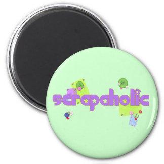Scrapaholic Scrapbook Lovers Magnet