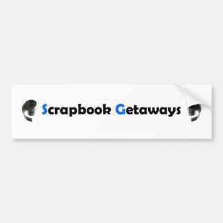 Scrapbook Getaways Items Bumper Sticker