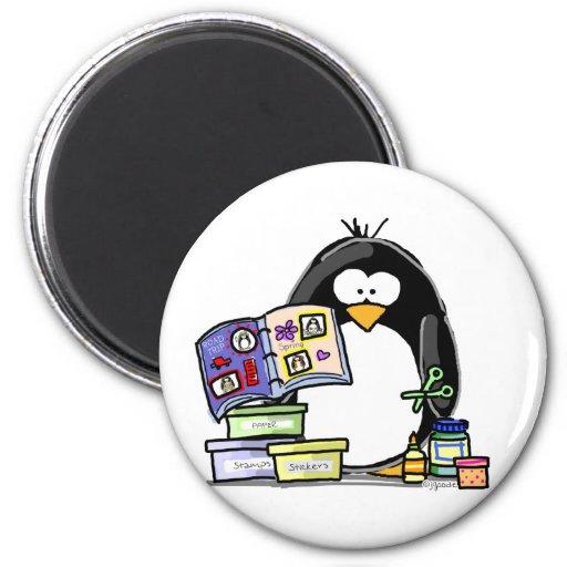 Scrapbook Penguin Magnets