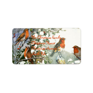 Scrapbook Robins Label