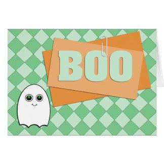 Scrapbook Style Boo Ghost Halloween Card