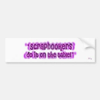 Scrapbookers Bumper Sticker