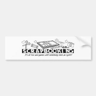 Scrapbooking Black Text Car Bumper Sticker