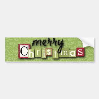 Scrapbooking Christmas Ornaments Car Bumper Sticker