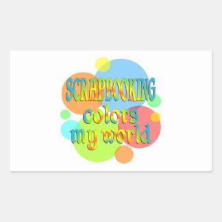 Scrapbooking Colors My World Rectangular Stickers