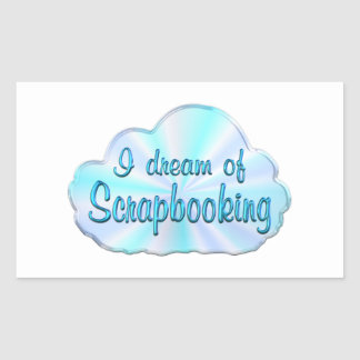 Scrapbooking Dreamer Rectangle Stickers
