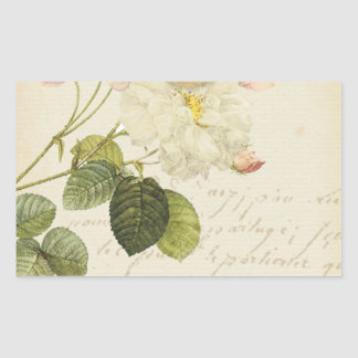 SCRAPBOOKING FLORAL LOVE VINTAGE COUNTRY ROMANTIC RECTANGLE STICKERS