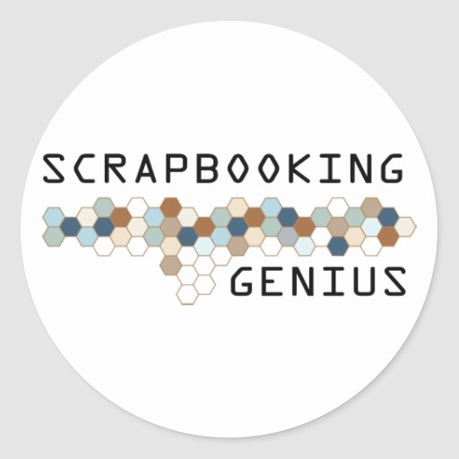 Scrapbooking Genius Round Stickers