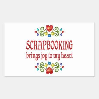 Scrapbooking Joy Rectangle Stickers