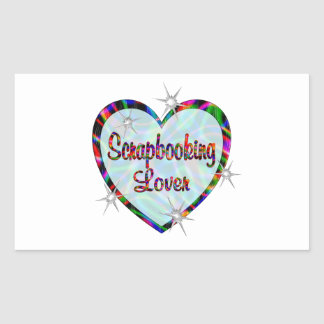 Scrapbooking Lover Rectangle Stickers