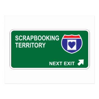 Scrapbooking Next Exit Postcard