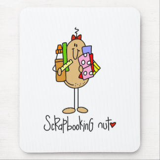 Scrapbooking Nut Mouse Pad