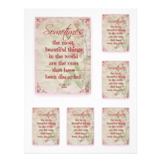 Scrapbooking Quotation Beautiful Things Pink Roses Letterhead Design