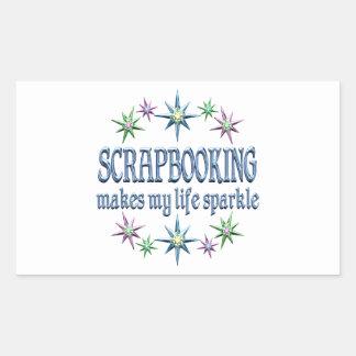 Scrapbooking Sparkles Rectangular Stickers